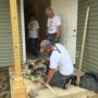 District Attorney Warren Montgomery and Staff Volunteer at Habitat for Humanity