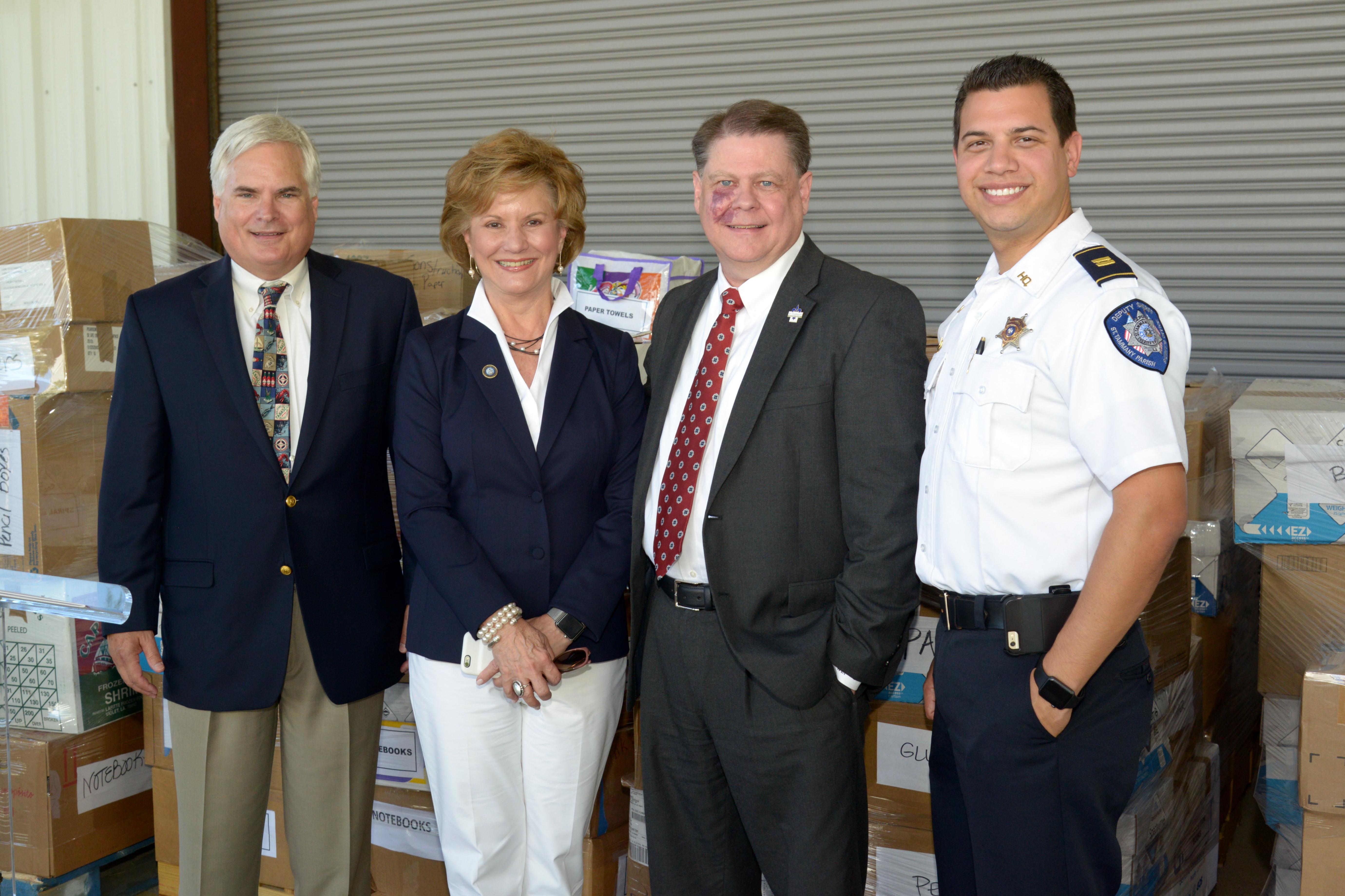 Warren at STPSS flood fundraiser announcement