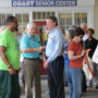 D.A. Joined public officials and the Council on Aging St. Tammany for a Walk around the Justice Center