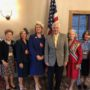 District Attorney Warren Montgomery speaks to the Louisiana Society Daughters of the American Revolution